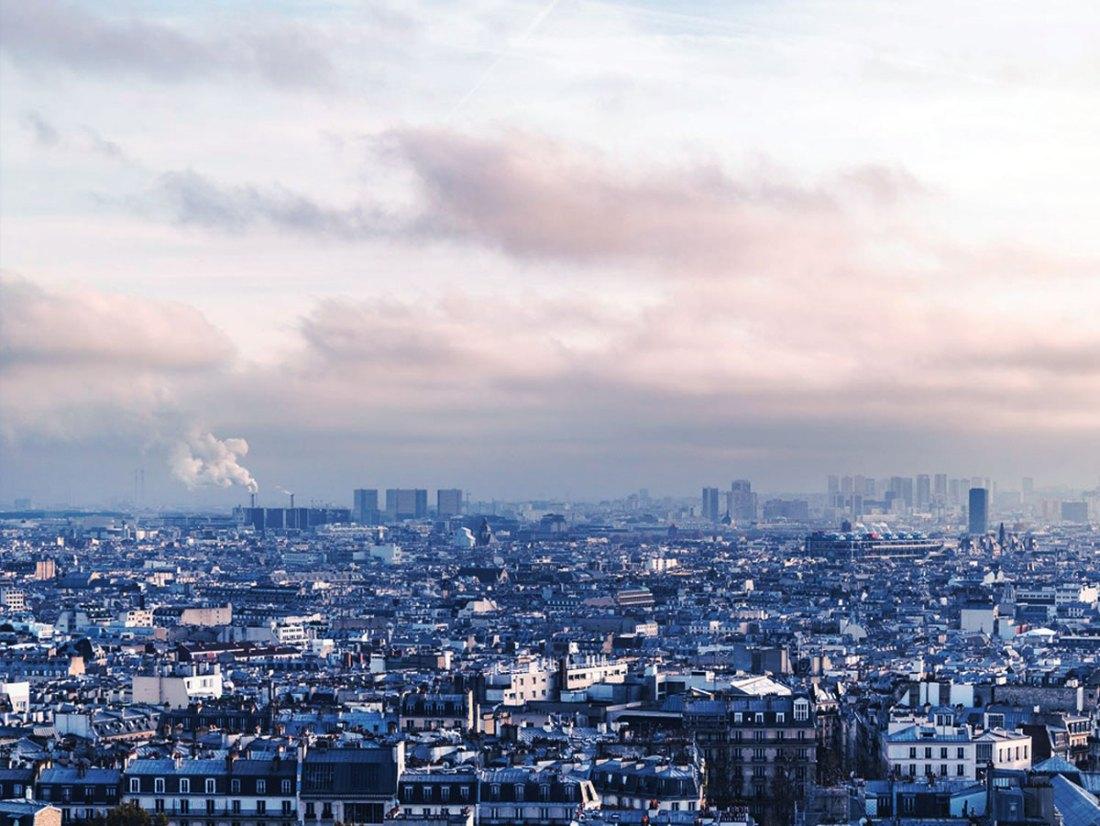 Paris under the smog