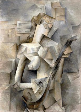 Painting Girl with a Mandolin by Picasso