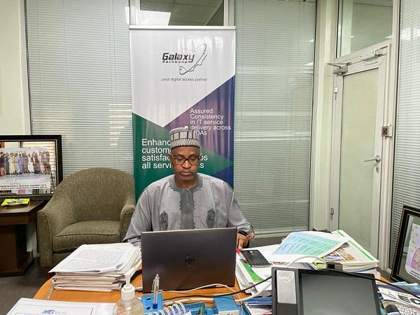 The managing director, Galaxy Backbone Limited, Prof. Muhammad Abubakar.