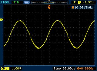 Sinewave DDS signal