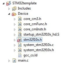 Updating STM32 C template with CMSIS V3 | Do It Easy With