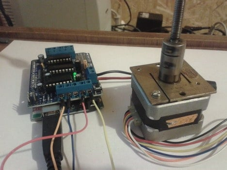 How to drive stepper motor with Arduino motor shield | Do It Easy