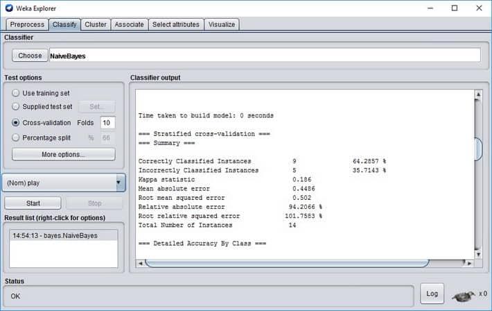 WEKA_Naive_Bayes_model_build