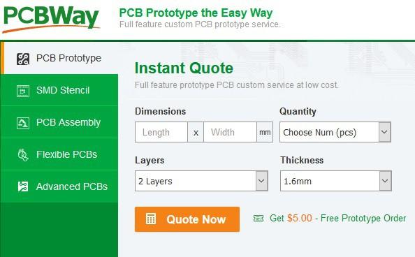 PCBWay instant quote