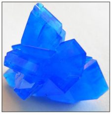 Crystals of Copper Sulfate, Chalcanthite.