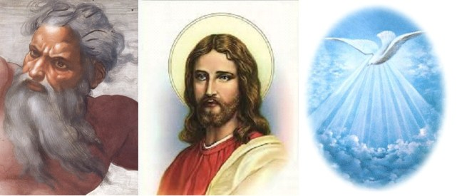 The Holy Trinity: God the Father, Jesus Christ the son, and the Holy Spirit