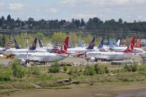 Boeing 737 Max stationnés. Source: https://en.wikipedia.org/wiki/Boeing_737_MAX_groundings