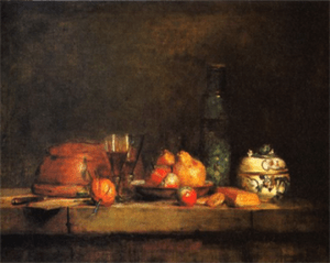 Jean-Siméon Chardin, The Olive Jar, 1760, oil on canvas, 71 × 98 cm, Paris, Louvre Museum