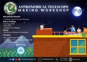 Online Astronomical Telescope Making Workshop