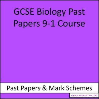 Diagram with title 'GCSE Biology Past Papers 9-1 Course'