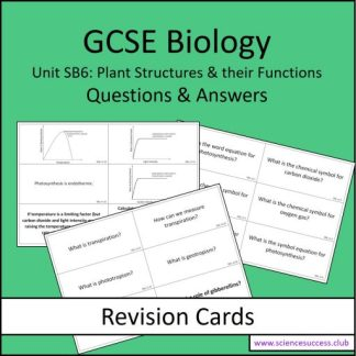 Screenshots of the Edexcel Biology SB6 resource