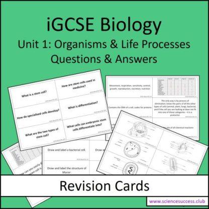 Screenshots of the Edexcel iGCSE B1 resource