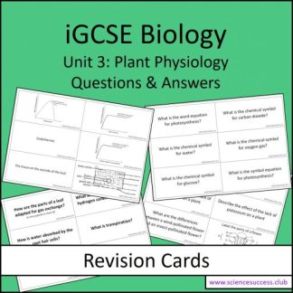 Screenshots of the Edexcel iGCSE B3 resource