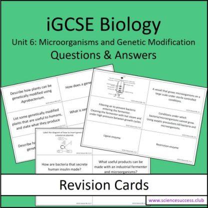 Screenshots of the Edexcel iGCSE B6 resource