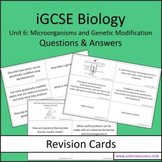 Screenshots of the Edexcel iGCSE B6 resource