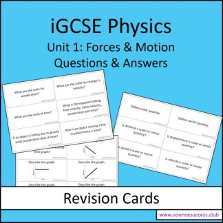 Screenshots of the Edexcel iGCSE P1 resource
