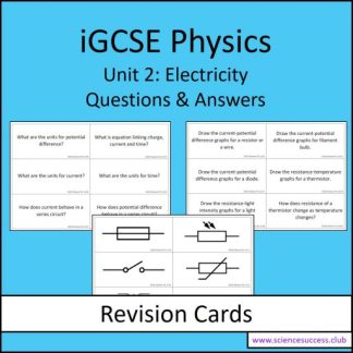 Screenshots of the Edexcel iGCSE P2 resource