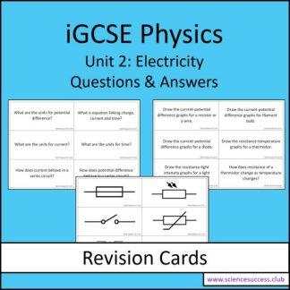 Screenshots of the Edexcel iGCSE P2 resource