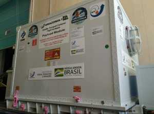 Satélite Amazonia-1 esta sendo transportado para Centro Espacial de Satish Dhawan na Índia