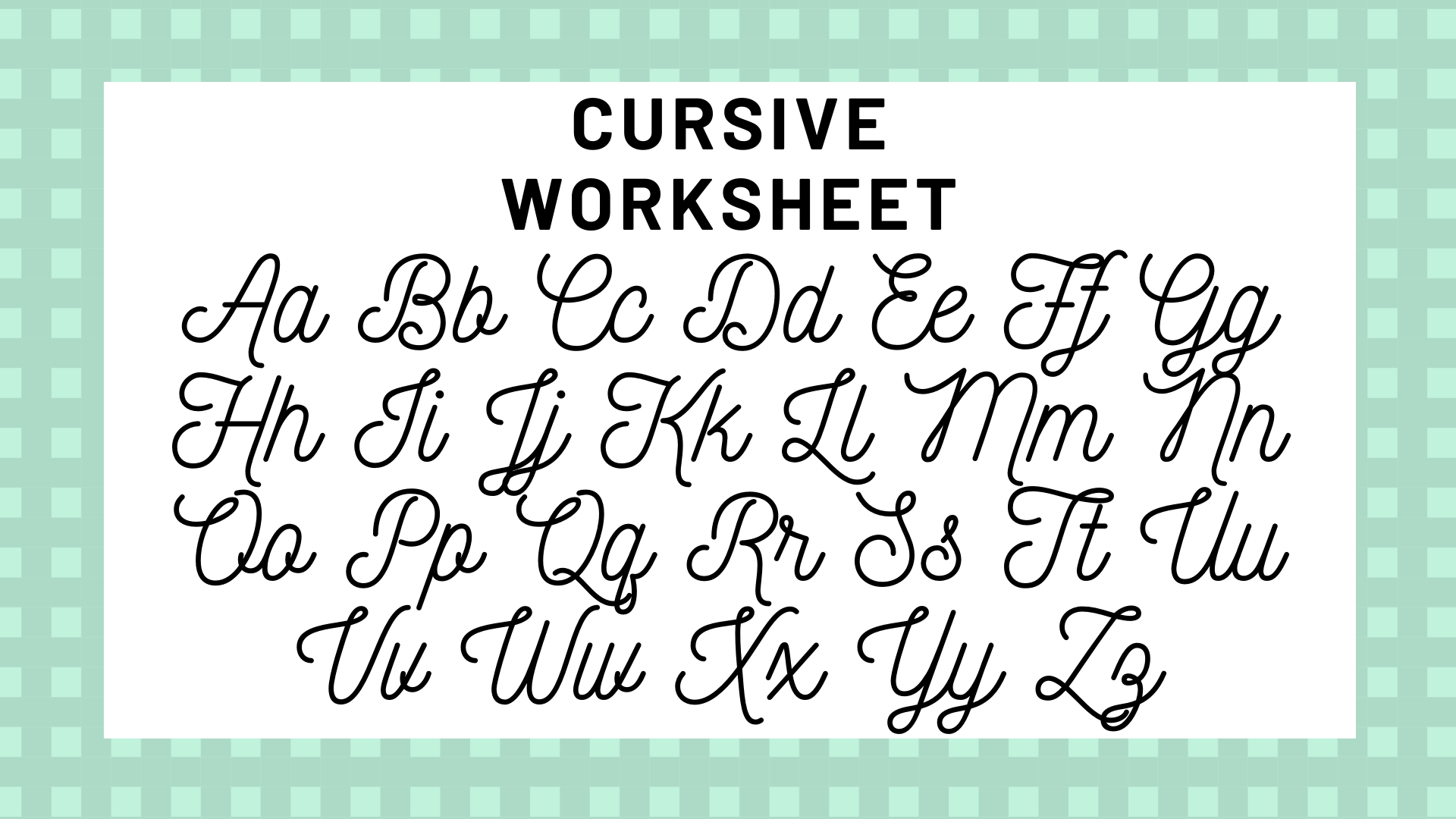 How To Do A Lowercase K In Cursive