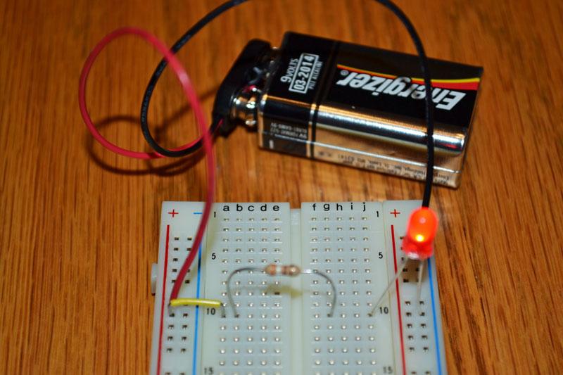 Battery Powered Light Bulb Switch