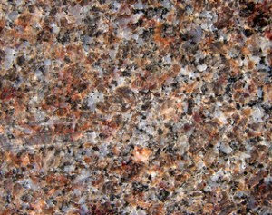 Closeup photograph of granite.