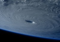 Photograph of a hurricane taken from space. Courtesy of Pixabay.