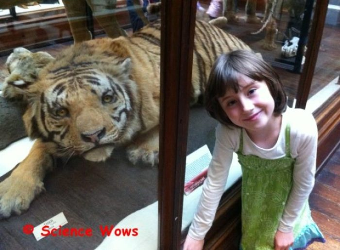Caer with her favourite animal