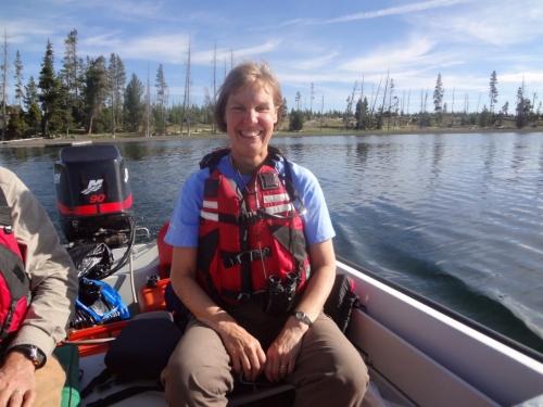 Photo: Monica Turner in boat