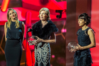 Cameron Diaz with Jennifer Doudna and Emmanuelle Charpentier