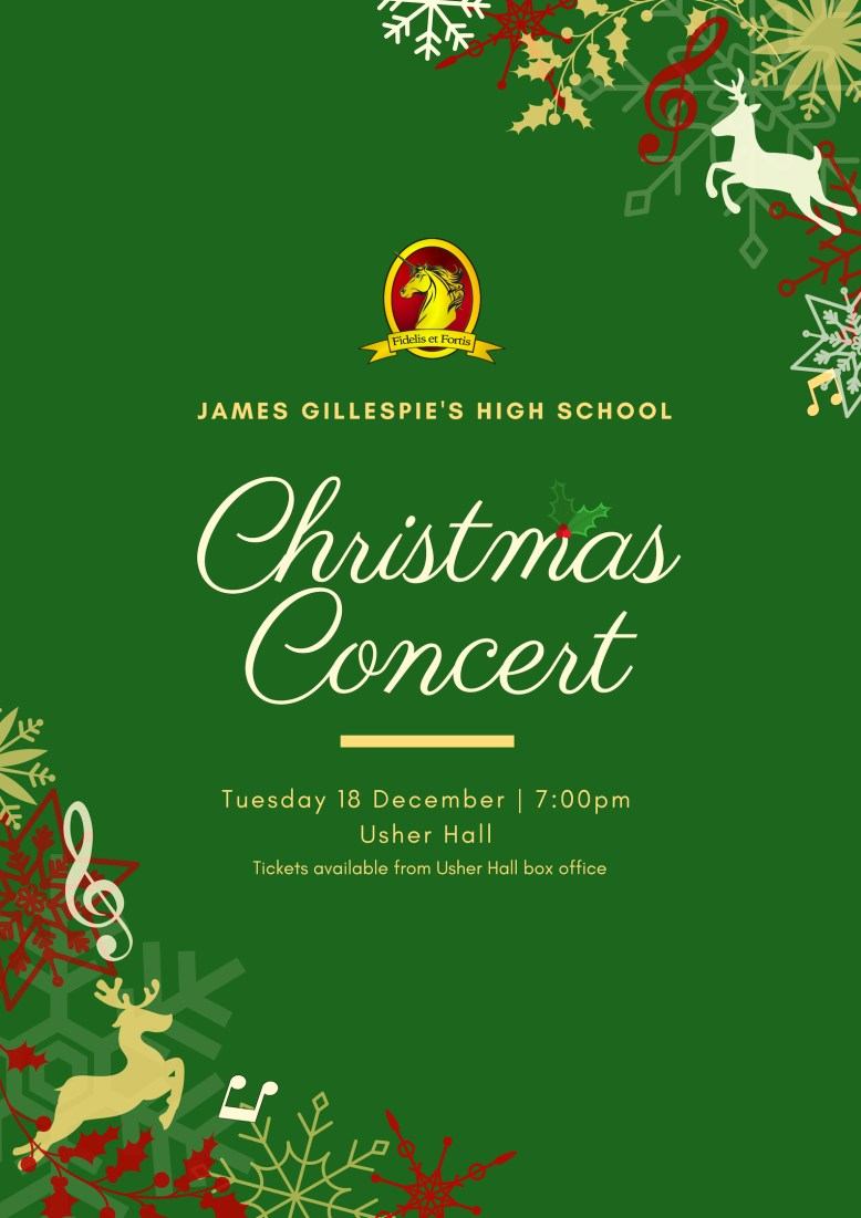 JGHS Christmas Concert 2018 Poster