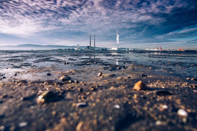 sand near water