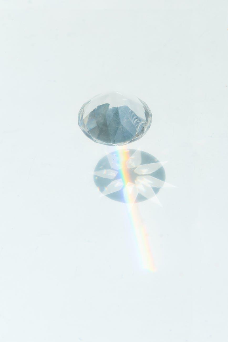 diamond on white surface
