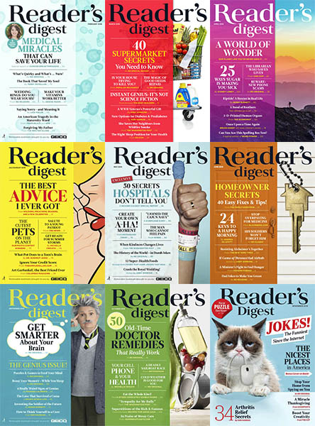 Reader's Digest USA - Full Year 2018 Collection