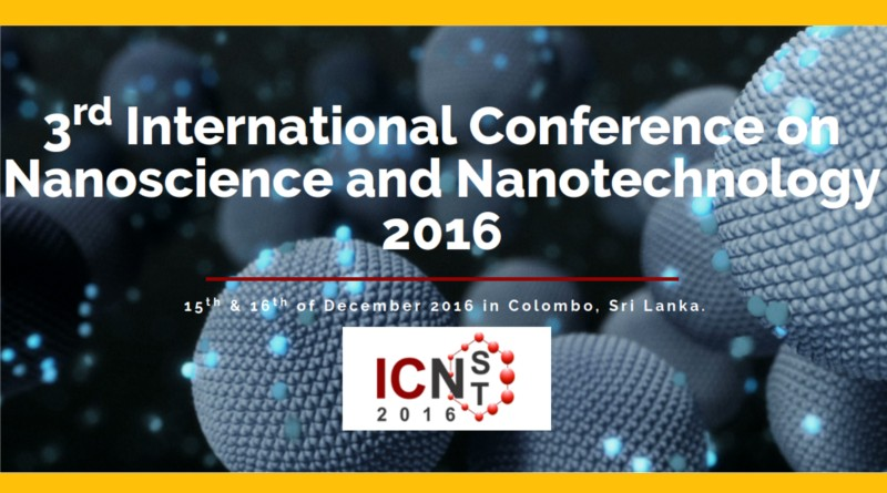 Nano technology and Nanoscience Confefernce Colombo Sri Lanka