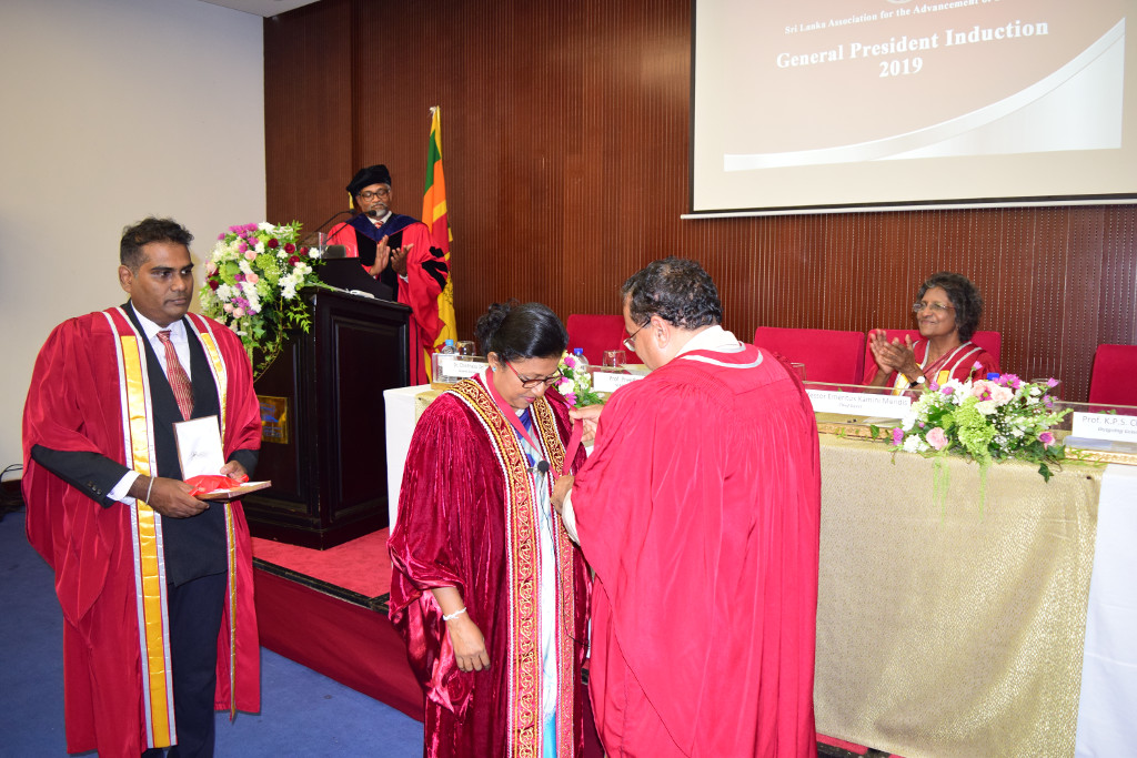 Prof. Preethi Udagama Inducted as the General President of SLAAS