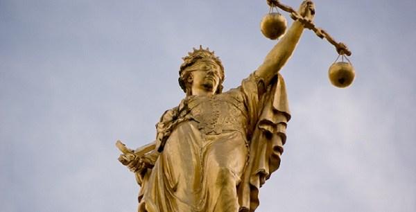 Golden Lady Justice, Bruges, Belgium