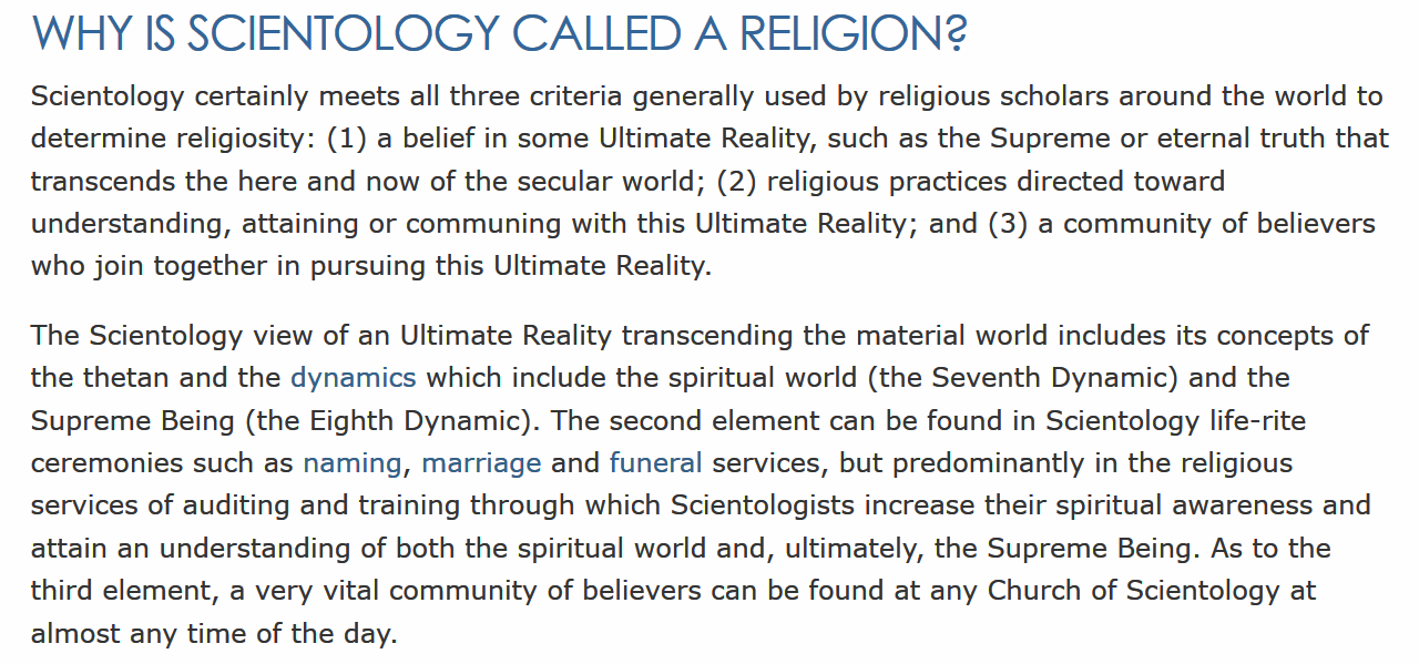 Scientologys view on homosexuality and christianity