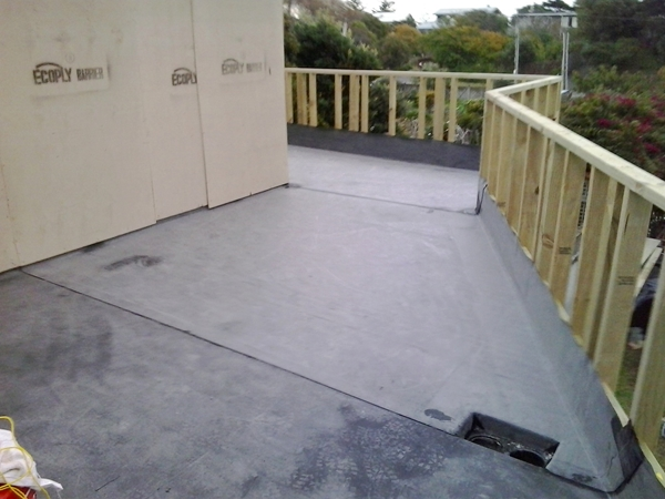 view across completed EPDM work