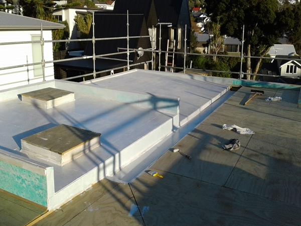 to enable laying a coating of hydro epoxy is appled to the plywood