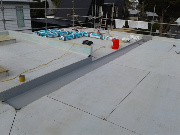 completed internal gutter lining