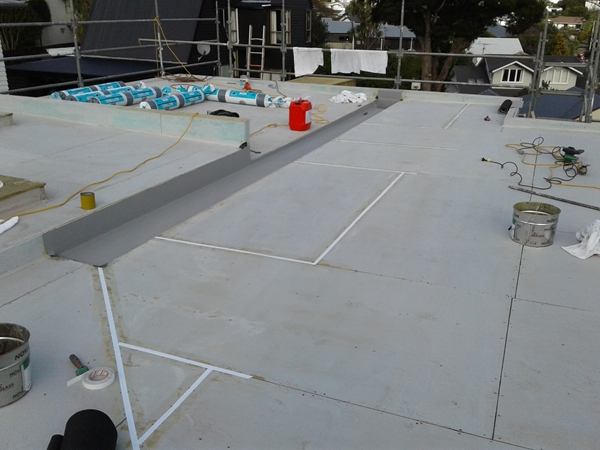first area in feild of roof has plywood joints taped with 25mm Silicone Tape