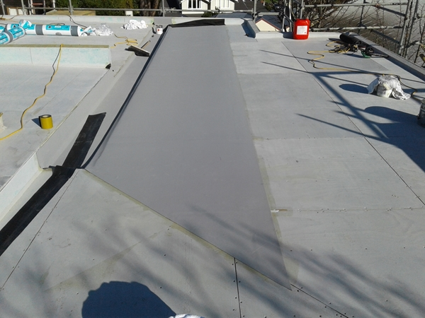 first sheet is laid in adhesive
