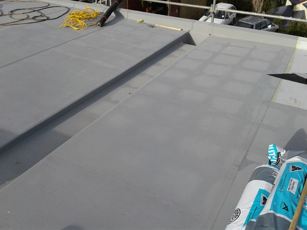 purlins and dwangs can be seen in grid pattern through the membrane, no insulation below as yet