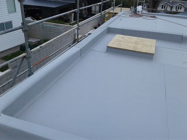 parapet piece added popup skylight roof