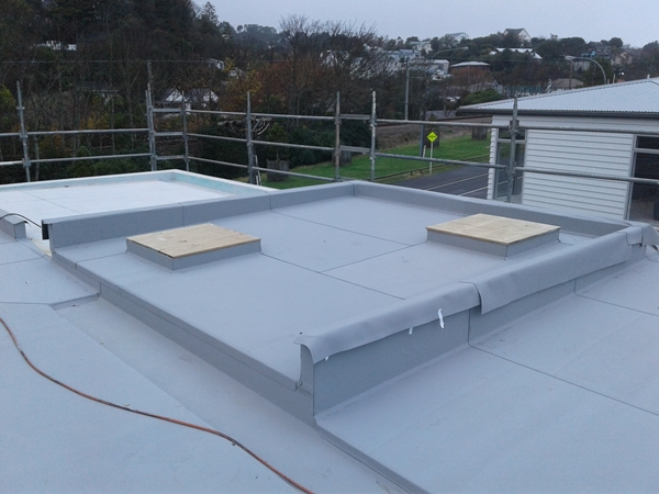 popup skylight roof is completed apart from turndowns