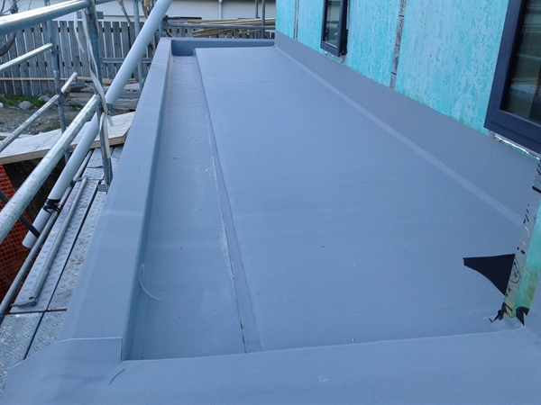 lower rear roof main sheets completed