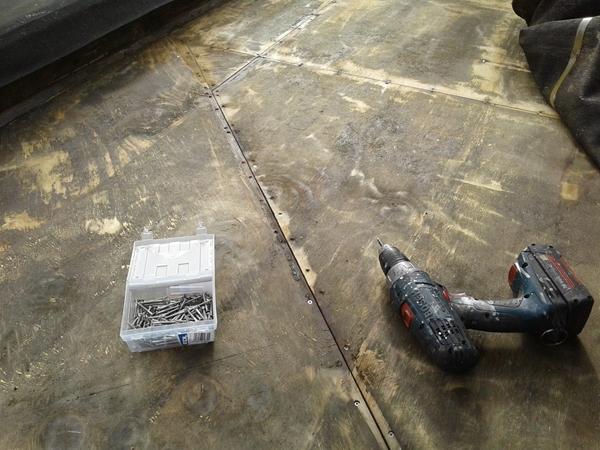 installing new stainless steel screws
