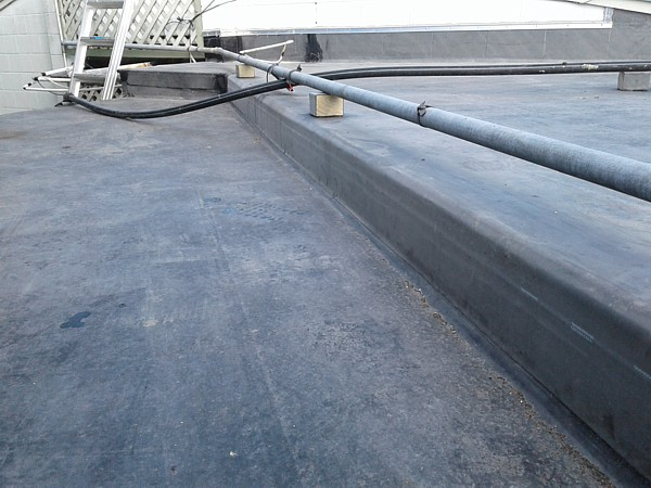 level change with new EPDM membrane