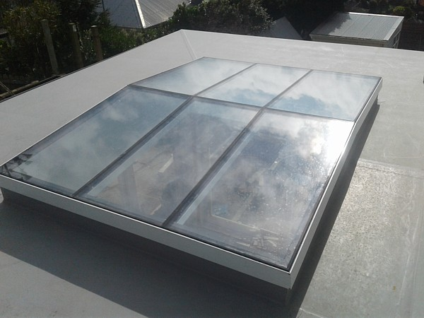 glass top to skylight, back roof